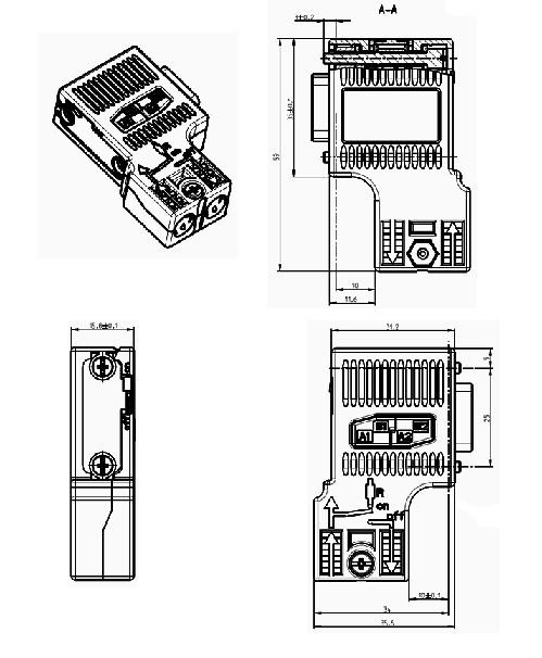 profibus connector  u00bb 6es7972